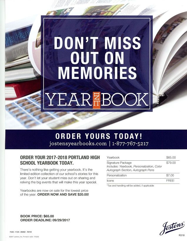 Yearbook Flyer Page 1