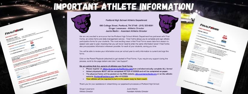 Important Athlete Information